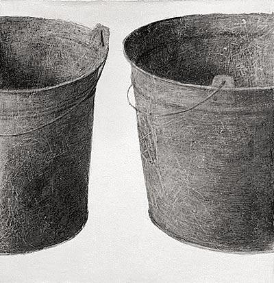 Buckets II. 60×60 cm