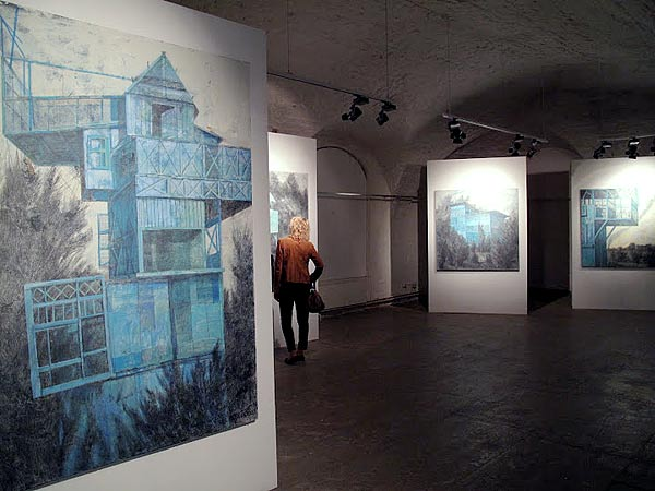 """Dovecotes and mausoleums""  MUAR (State Museum of Architecture)  with YAKUT gallery, Moscow. 2010"