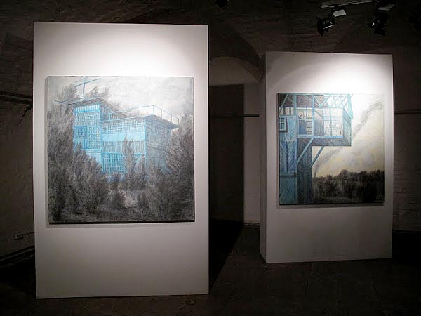 """""""Dovecotes and mausoleums""""  MUAR (State Museum of Architecture)  with YAKUT gallery, Moscow. 2010"""