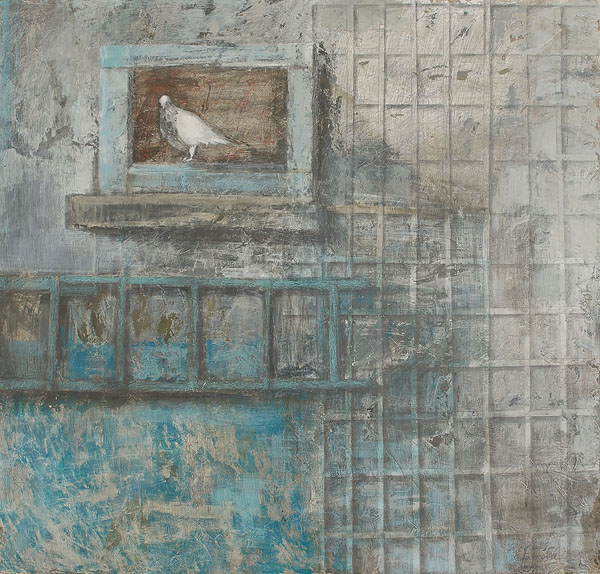 Dovecote 6  2010  Graphite pencil, acrylic on canvas  140×140 cm