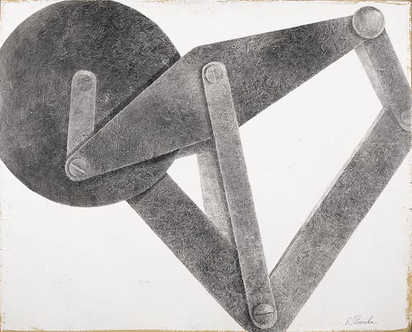 E. Rozhkova. Paradoxical mechanism. 120×150 cm