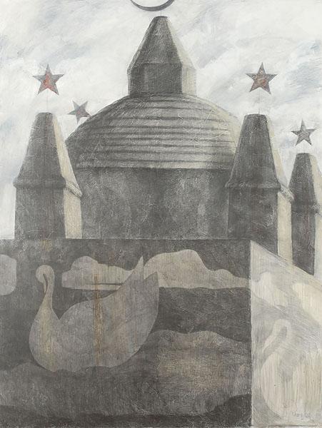 Мавзолей 1. Холст, смешанная техника. 200×150 см