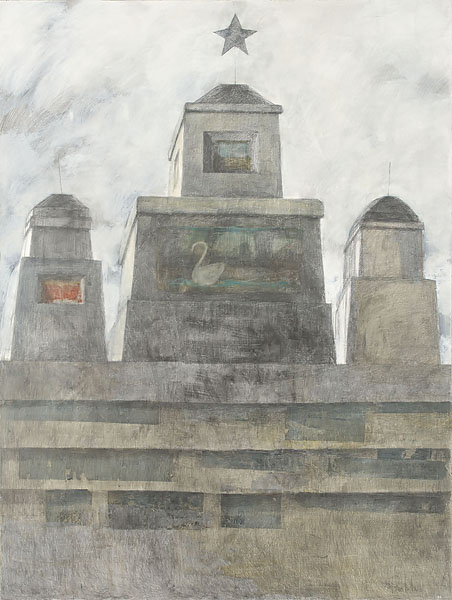 Mausoleum 3  2010  Graphite pencil, acrylic on canvas  200×150 cm