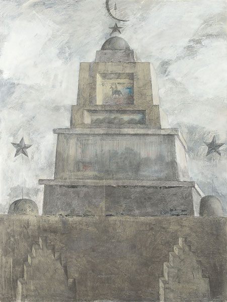 Mausoleum 4  2010  Graphite pencil, acrylic on canvas  200×150 cm