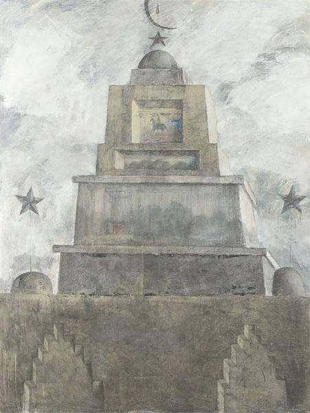 Мавзолей 4. Холст, смешанная техника. 200×150 см