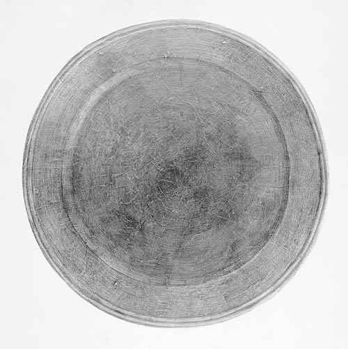 Plate I  2001  Graphite pencil on hardboard  120×120 cm